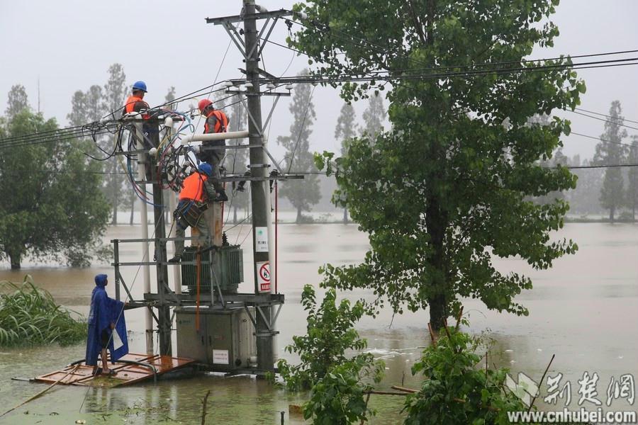 由于该台区担负着所在村排渍抽水机站和灾民安置点的供电,上午6时左右